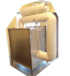 Камера стерилізації 670 x 550 x 550 вигляд збоку